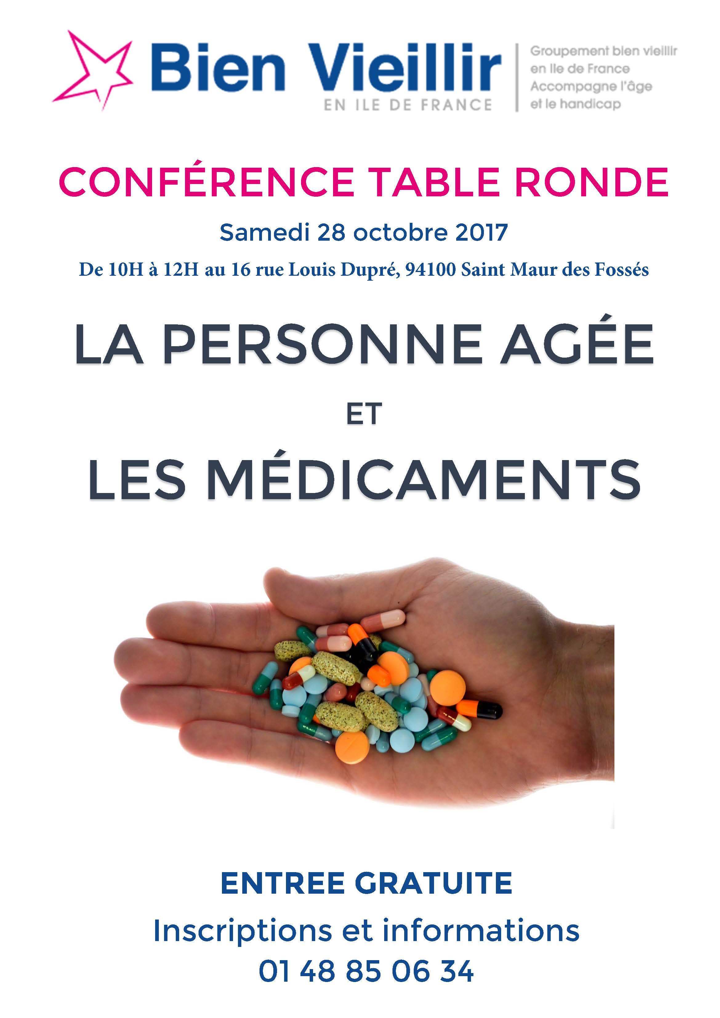 AFFICHE CONFÉRENCE 28-10-2015 PA ET MEDICAMENTS